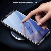 Metall Case für Samsung Galaxy S9 Hülle   Cover mit eingebautem Magnet Rückseite und Vorderseite aus Glas