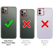 Metall Case für Apple iPhone 11 Pro Max Hülle | Cover mit eingebautem Magnet Backcover aus Glas