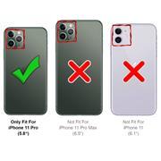Metall Case für Apple iPhone 11 Pro Hülle | Cover mit eingebautem Magnet Backcover aus Glas