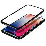 Metall Case für Apple iPhone 11 Hülle | Cover mit eingebautem Magnet Backcover aus Glas