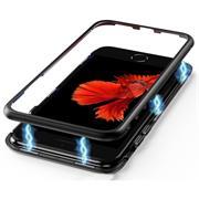 Metall Case für Apple iPhone 6 Plus / 6s Plus Hülle   Cover mit eingebautem Magnet Backcover aus Glas