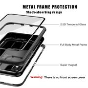 Metall Case für Apple iPhone X / XS Hülle | Cover mit eingebautem Magnet Backcover aus Glas