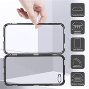Metall Case für Apple iPhone XS Max Hülle | Cover mit eingebautem Magnet Backcover aus Glas