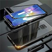 Metall Case für Huawei Mate 20 Hülle | Cover mit eingebautem Magnet Backcover aus Glas