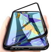 Metall Case für Huawei P20 Lite Hülle | Cover mit eingebautem Magnet Backcover aus Glas