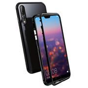 Metall Case für Huawei P20 Hülle | Cover mit eingebautem Magnet Backcover aus Glas