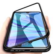 Metall Case für Huawei P30 Lite Hülle | Cover mit eingebautem Magnet Backcover aus Glas