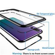 Metall Case für Huawei P30 Pro Hülle | Cover mit eingebautem Magnet Backcover aus Glas