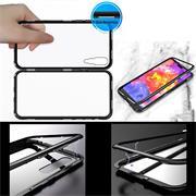 Metall Case für Huawei P30 Hülle | Cover mit eingebautem Magnet Backcover aus Glas