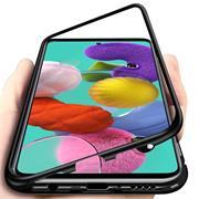 Metall Case für Samsung Galaxy A51 Hülle | Cover mit eingebautem Magnet Backcover aus Glas