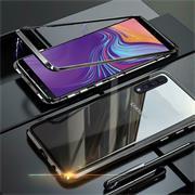 Metall Case für Samsung Galaxy A7 2018 Hülle | Cover mit eingebautem Magnet Backcover aus Glas