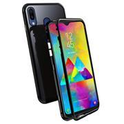 Metall Case für Samsung Galaxy M20 Hülle | Cover mit eingebautem Magnet Backcover aus Glas