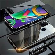 Metall Case für Samsung Galaxy M30s / M21 Hülle | Cover mit eingebautem Magnet Backcover aus Glas