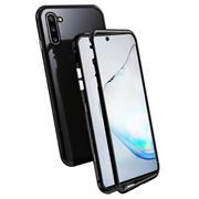 Metall Case für Samsung Galaxy Note 10 Hülle | Cover mit eingebautem Magnet Backcover aus Glas