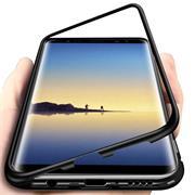 Metall Case für Samsung Galaxy Note 9 Hülle | Cover mit eingebautem Magnet Backcover aus Glas