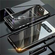 Metall Case für Samsung Galaxy S10 Plus Hülle | Cover mit eingebautem Magnet Backcover aus Glas