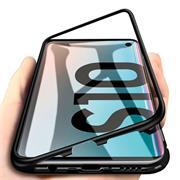 Metall Case für Samsung Galaxy S10 Hülle | Cover mit eingebautem Magnet Backcover aus Glas