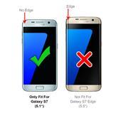 Metall Case für Samsung Galaxy S7 Hülle | Cover mit eingebautem Magnet Backcover aus Glas