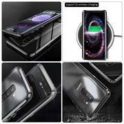 Metall Case für Samsung Galaxy S8 Plus Hülle | Cover mit eingebautem Magnet Backcover aus Glas