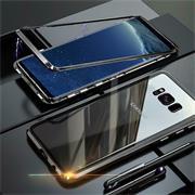 Metall Case für Samsung Galaxy S8 Hülle | Cover mit eingebautem Magnet Backcover aus Glas