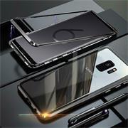 Metall Case für Samsung Galaxy S9 Plus Hülle | Cover mit eingebautem Magnet Backcover aus Glas