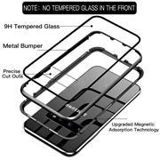 Metall Case für Samsung Galaxy S9 Hülle | Cover mit eingebautem Magnet Backcover aus Glas