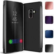 Handy Hülle für Samsung Galaxy A8 2018 Cover View Spiegel Case