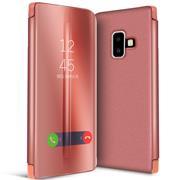 Handy Hülle für Samsung Galaxy J6 Plus Cover View Spiegel Case