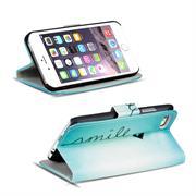Gemusterte Print Wallet Hülle für Apple iPhone 6 Plus / 6S Plus Tasche mit Motiv Design - Schutzhülle mit Kartenfächer