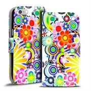 Gemusterte Print Klapphülle für Apple iPhone 6 Plus / 6S Plus Tasche - Hülle im Spirit der 60er Motiv Design