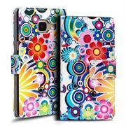 Gemusterte Print Klapphülle für Samsung Galaxy A3 2016 ED. Tasche - Hülle im Spirit der 60er Motiv Design