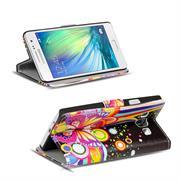 Motiv Klapphülle für Samsung Galaxy A5 2015 buntes Wallet Schutzhülle