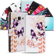 Motiv Klapphülle für Samsung Galaxy A7 2015 buntes Wallet Schutzhülle