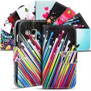 Gemusterte Print Wallet Hülle für Samsung Galaxy S3 Mini Tasche mit Motiv Design - Schutzhülle mit Kartenfächer