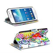 Gemusterte Print Klapphülle für Samsung Galaxy S3 / S3 Neo Tasche - Hülle im Spirit der 60er Motiv Design
