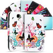 Motiv Klapphülle für Samsung Galaxy S4 Mini buntes Wallet Schutzhülle