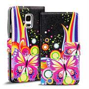 Motiv Klapphülle für Samsung Galaxy S5 Mini buntes Wallet Schutzhülle