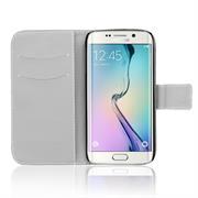 Gemusterte Print Wallet Hülle für Samsung Galaxy S6 Edge Plus Tasche mit Motiv Design - Schutzhülle mit Kartenfächer