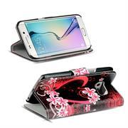 Motiv Klapphülle für Samsung Galaxy S6 Edge Plus buntes Wallet Case
