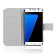 Motiv Klapphülle für Samsung Galaxy S7 buntes Wallet Schutzhülle