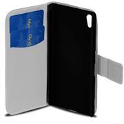 Gemusterte Print Wallet Hülle für Sony Xperia M4 Aqua Tasche mit Motiv Design - Schutzhülle mit Kartenfächer