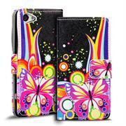 Motiv Klapphülle für Sony Xperia Z1 Compact buntes Wallet Schutzhülle