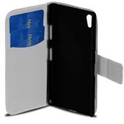 Gemusterte Print Wallet Hülle für Sony Xperia Z3 Plus Tasche mit Motiv Design - Schutzhülle mit Kartenfächer