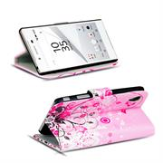 Motiv Klapphülle für Sony Xperia Z5 Premium buntes Wallet Schutzhülle