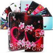Gemusterte Print Wallet Hülle für Sony Xperia Z5 Premium Tasche mit Motiv Design - Schutzhülle mit Kartenfächer