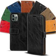 Retro Wallet Tasche für Apple iPhone 11 Pro Max Hülle Business Flip Case