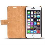 Retro Klapptasche für Apple iPhone 5 / 5S / SE Book Cover Hülle mit Kartenfächer