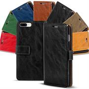 Retro Tasche für Apple iPhone 7 Plus / 8 Plus Hülle Wallet Case Handyhülle Vintage Slim Cover