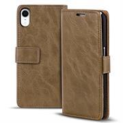 Retro Tasche für Apple iPhone XR Hülle Wallet Case Handyhülle Vintage Slim Cover