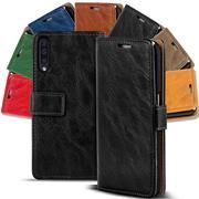 Retro Klapptasche für Samsung Galaxy A50 Hülle Book Wallet